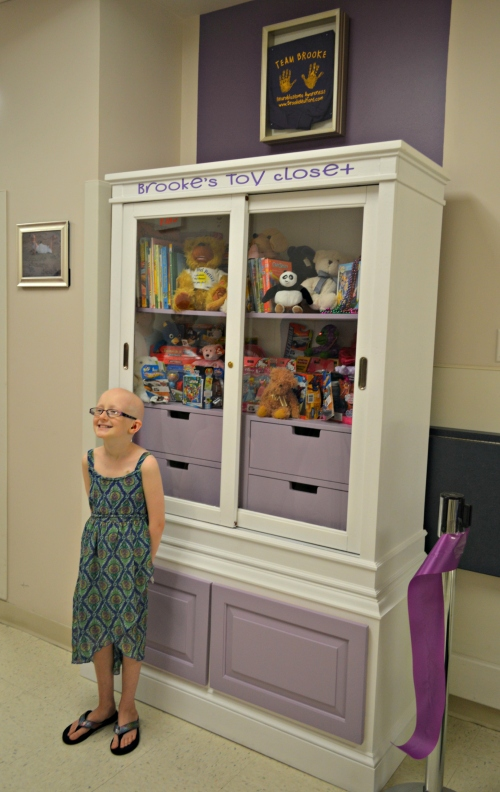 Brooke Mulford debuts Brooke's Toy Closet, donated to Peninsula Regional Medical Center by the Brooke Mulford Foundation for children hospitalized at PRMC.