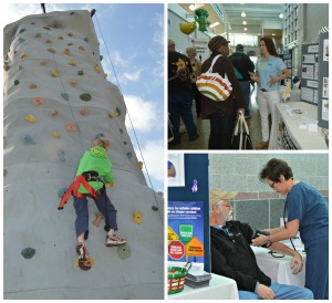 A free rock climbing wall, free screenings and health information are all part of the Live Well HealthFest on April 11 from 7:30 a.m. to 1 p.m. at Bennett High in Salisbury.