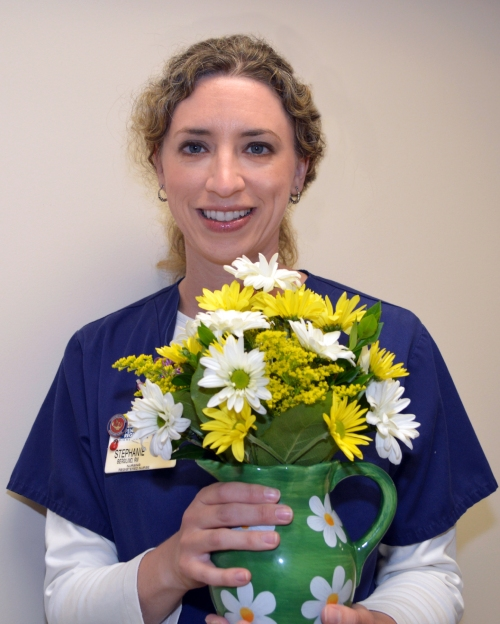 Stephanie Berglind of Peninsula Wound & Hyperbaric Center earned the Daisy Award for Exceptional Nurses for May 2015.