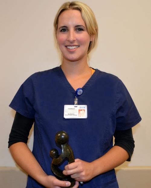 Hannah Armstrong, RN, of Peninsula Regional's 2 West unit, has earned the Daisy Award for Extraordinary Nurses.