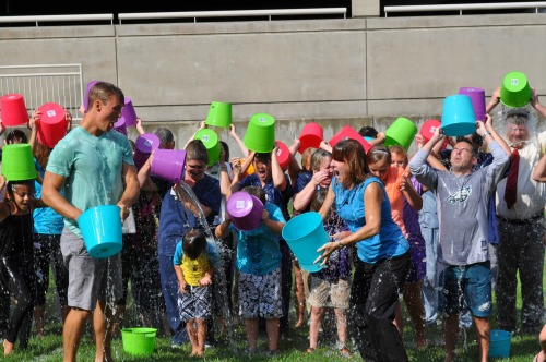 PRMC Ice Bucket Challenge participants enjoyed cooling off in 2014, and will do so again in 2015, all for a great cause.
