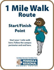 Mile Walk Sign
